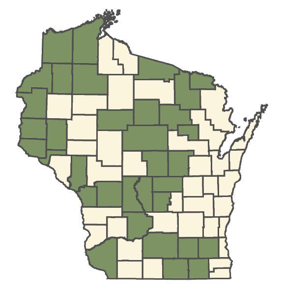 Mimulus glabratus dot map